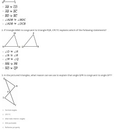 Quiz \u0026 Worksheet - Triangle Congruence Proofs   Study.com [ 1836 x 1140 Pixel ]
