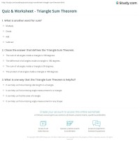 Quiz & Worksheet - Triangle Sum Theorem | Study.com