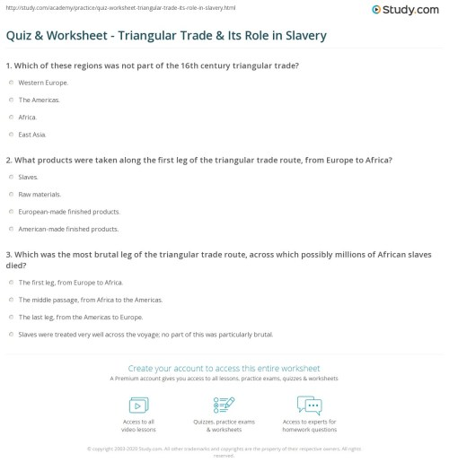 small resolution of Slavery In The Colonies Worksheet - Promotiontablecovers