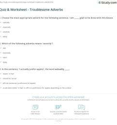 Quiz \u0026 Worksheet - Troublesome Adverbs   Study.com [ 1169 x 1140 Pixel ]
