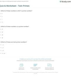 Quiz \u0026 Worksheet - Twin Primes   Study.com [ 1169 x 1140 Pixel ]