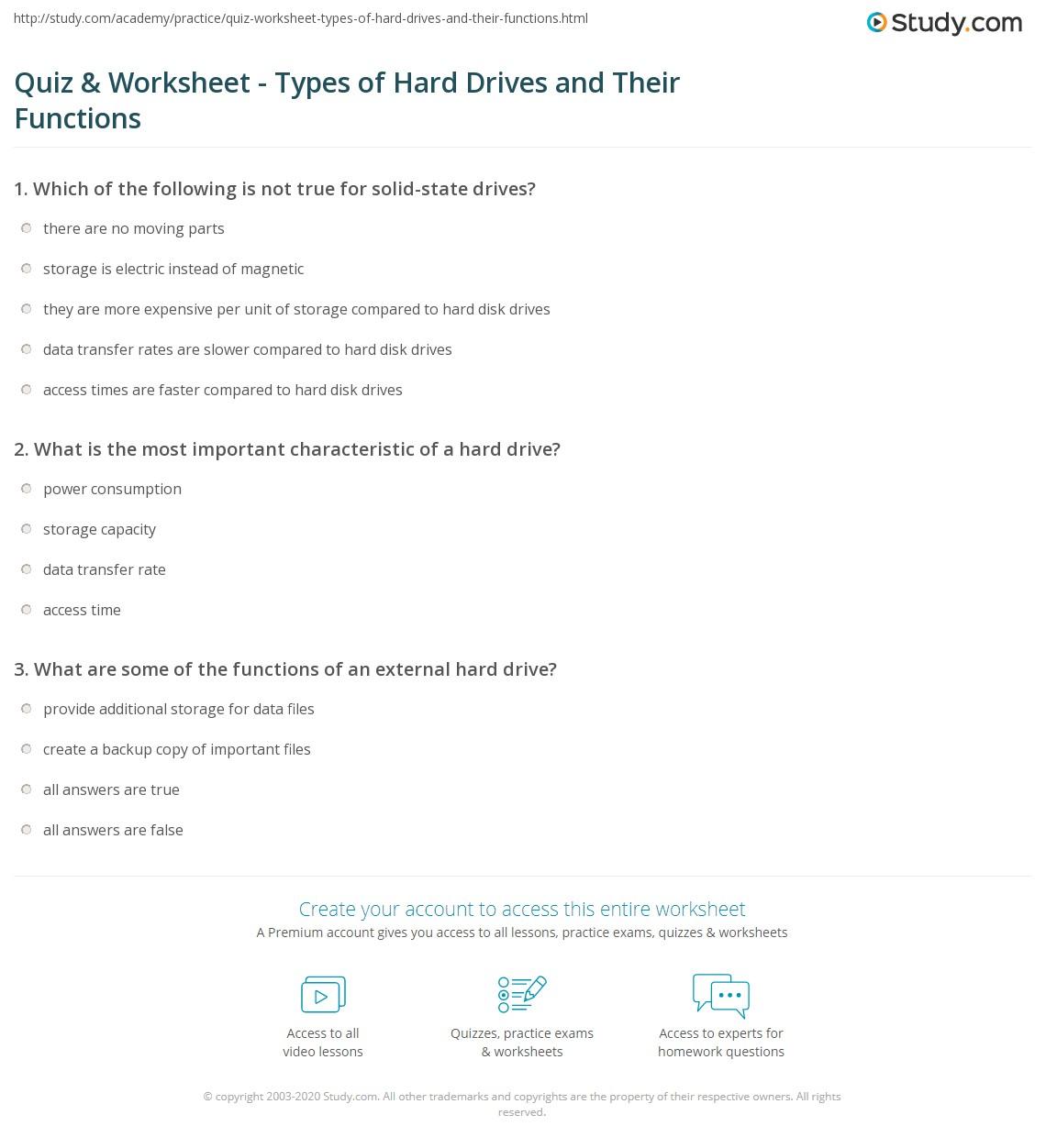 Teacher Worksheet Hard