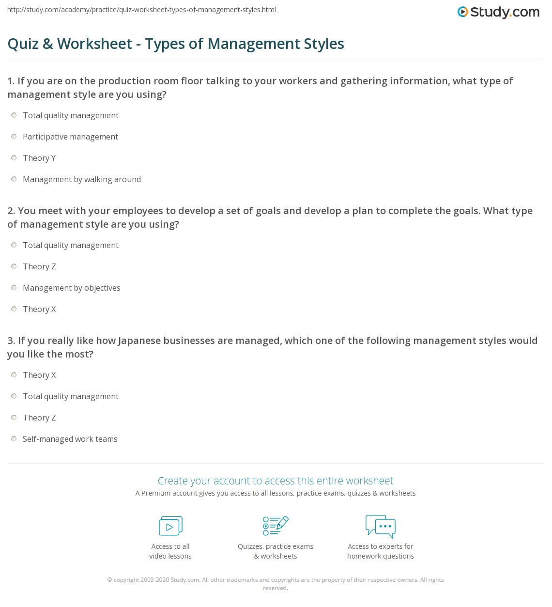 What Is Your Management Style Quiz