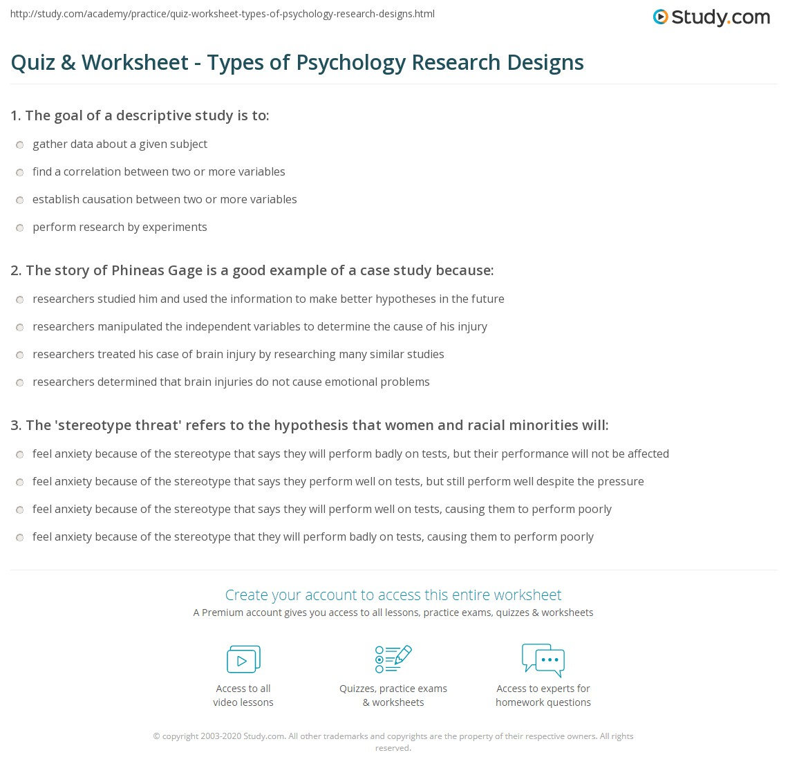 Types Of Case Study In Psychology