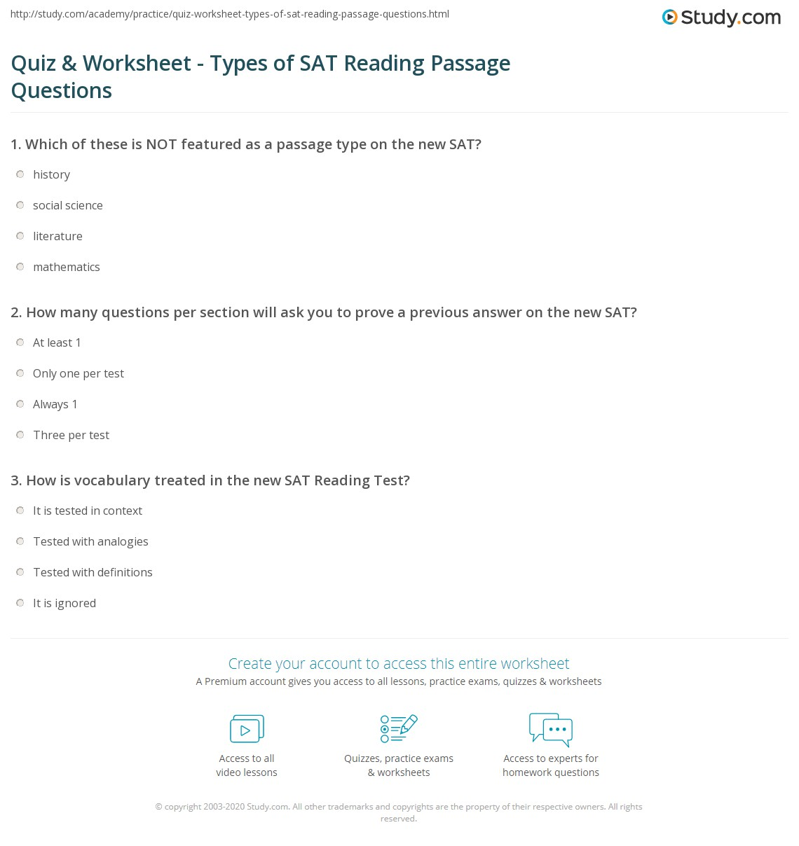 Sat Vocabulary Review Worksheet
