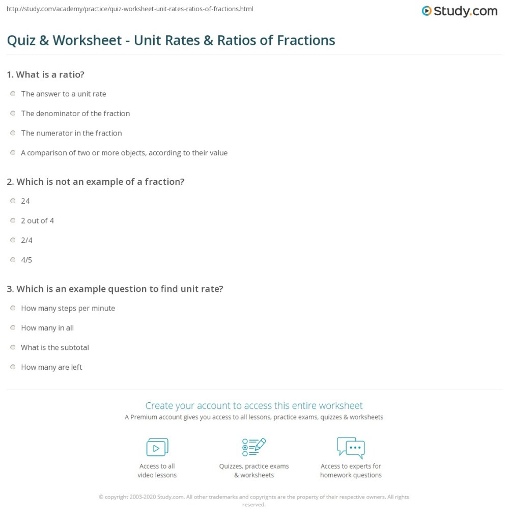 medium resolution of Ratios And Rates Worksheet - Promotiontablecovers