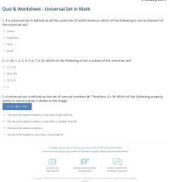 Quiz \u0026 Worksheet - Universal Set in Math   Study.com [ 1276 x 1140 Pixel ]