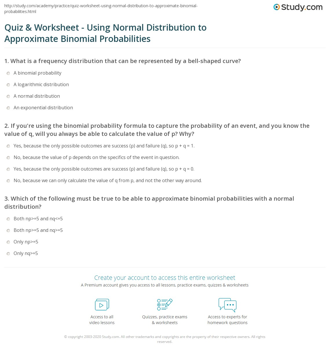 31 Binomial Distribution Worksheet Answers