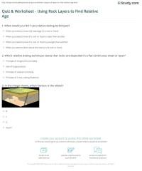 Relative Age Dating Worksheet   www.imgkid.com - The Image ...