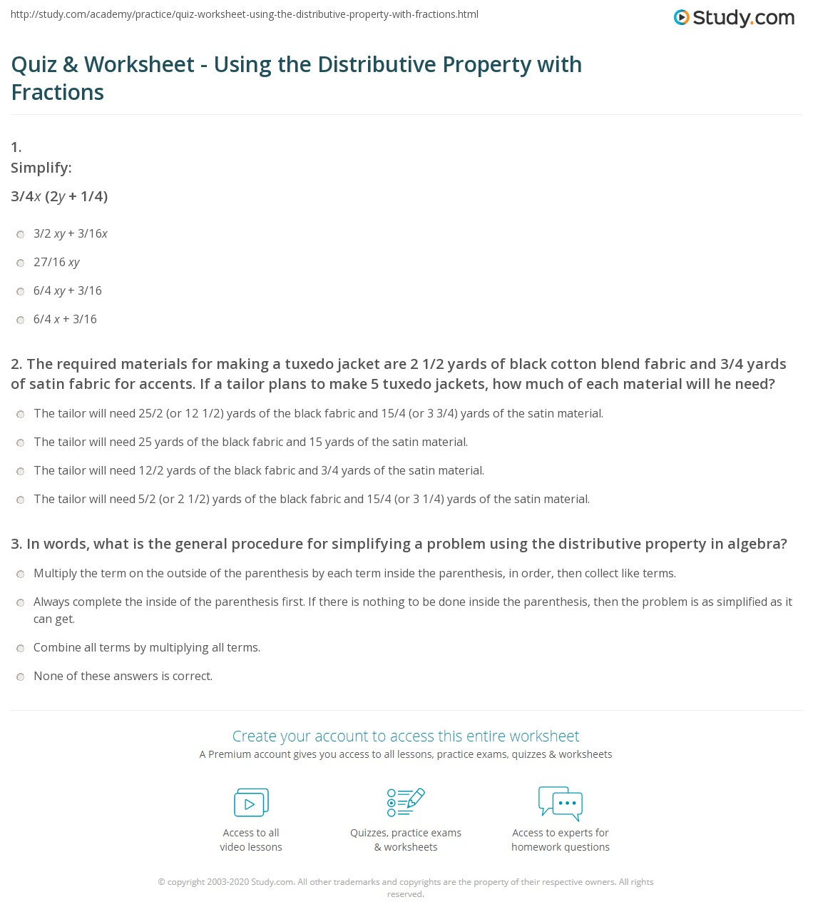 Algebra 1 Distributive Property Worksheet