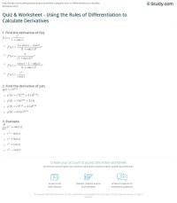 Binario derivative rules worksheet - tantofinos blog