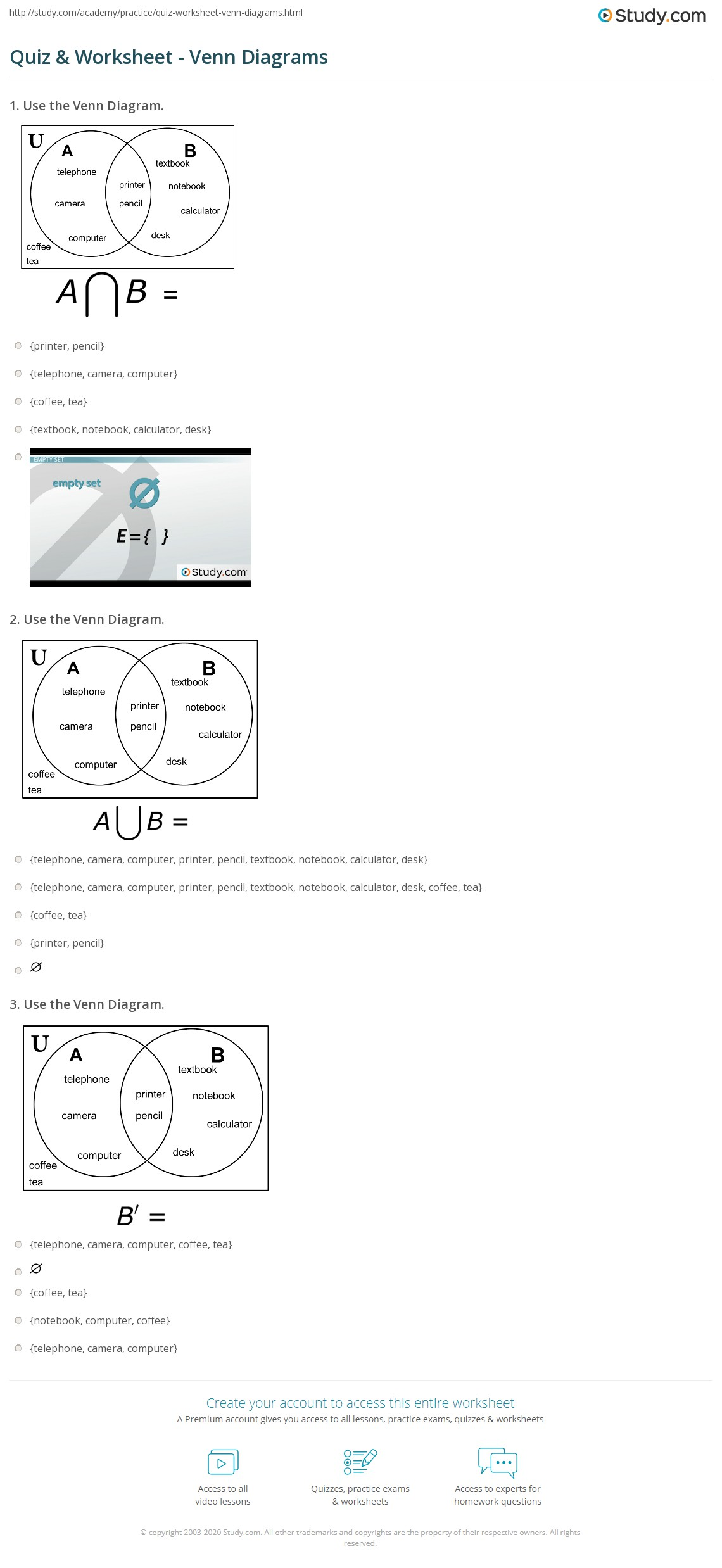 maths sets and venn diagrams bubonic plague diagram quiz worksheet study