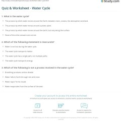 Water Cycle Diagram With Questions Rv Style Trailer Plug Wiring Worksheet The Fun