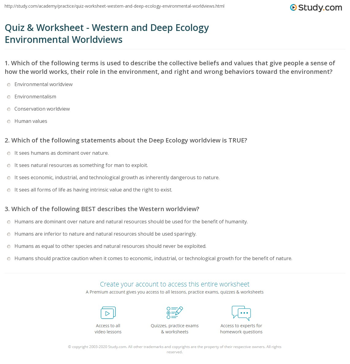 Principles Of Ecology Worksheet Answers