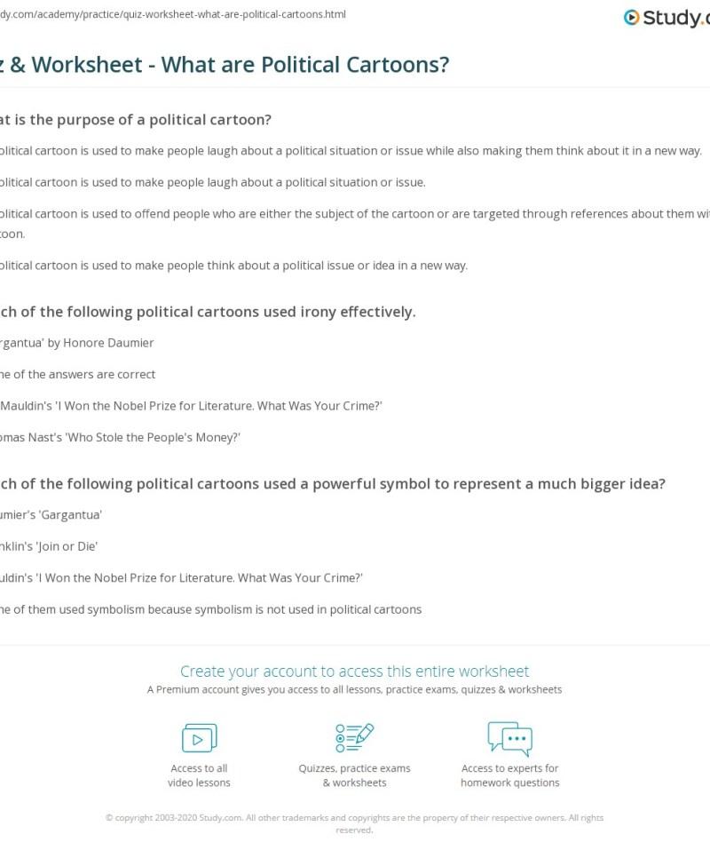 Political Cartoon Analysis Worksheet Answers – Rhetorical Analysis Worksheet