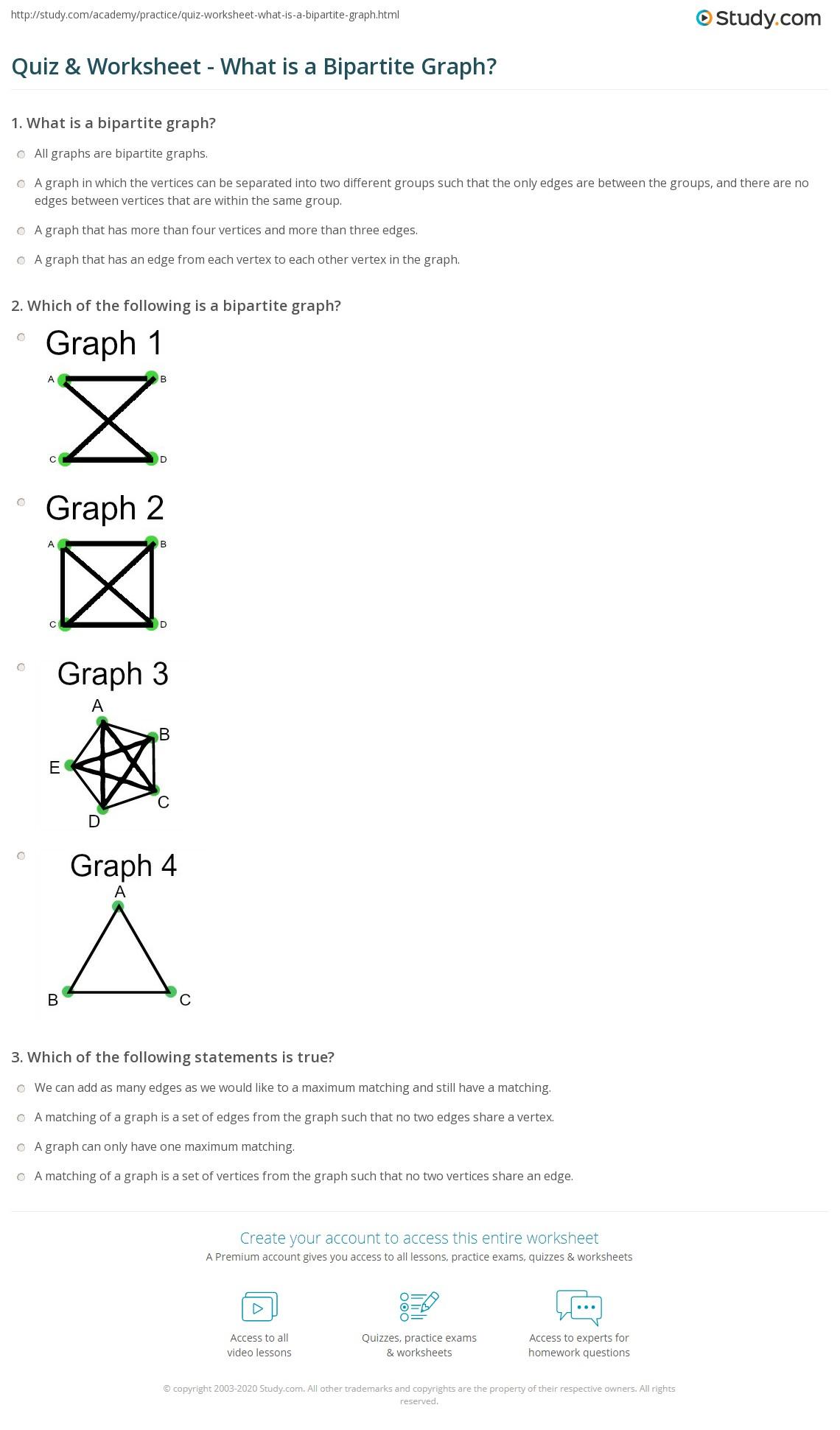 Graph Worksheet Free