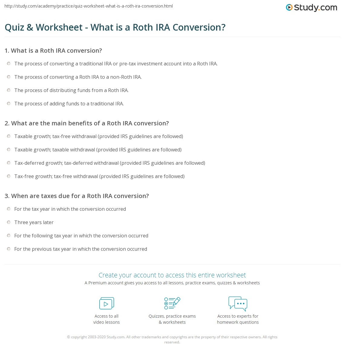 Cozy Roth Ira Worksheet Kidz Activities