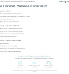 Quiz \u0026 Worksheet - What is Solution Concentration?   Study.com [ 1121 x 1140 Pixel ]