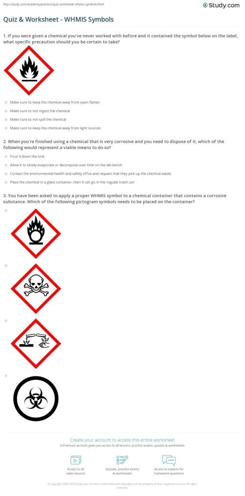 small resolution of Quiz \u0026 Worksheet - WHMIS Symbols   Study.com
