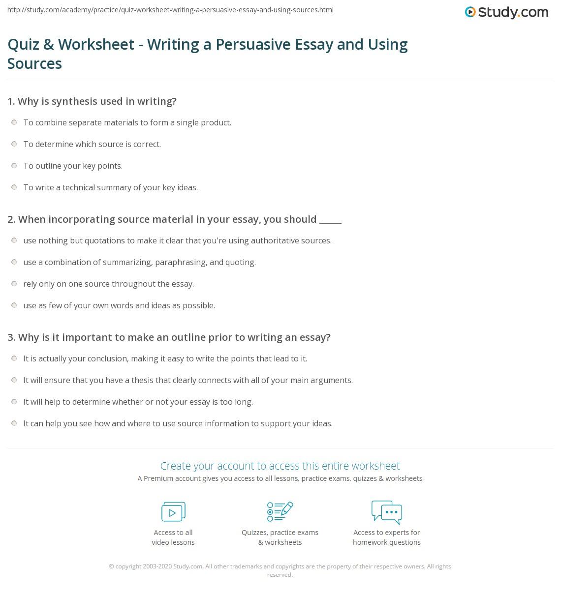 Worksheet Persuasive Essay Worksheets Worksheet Fun