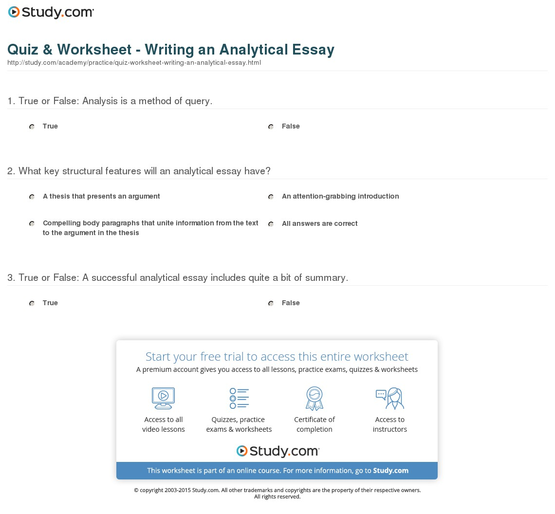 How To Write Anytical Essay Sample