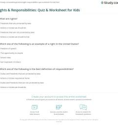 Rights \u0026 Responsibilities: Quiz \u0026 Worksheet for Kids   Study.com [ 1121 x 1140 Pixel ]
