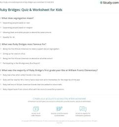 Ruby Bridges: Quiz \u0026 Worksheet for Kids   Study.com [ 1169 x 1140 Pixel ]