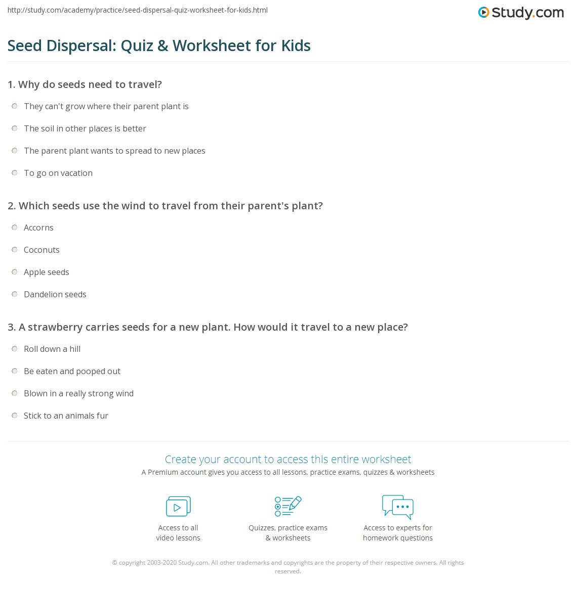 hight resolution of 28 How Seeds Travel Worksheet - Free Worksheet Spreadsheet