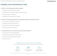 Solubility: Quiz & Worksheet for Kids