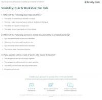 Solubility: Quiz & Worksheet for Kids