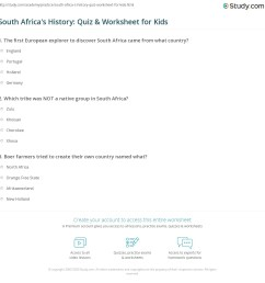 South Africa's History: Quiz \u0026 Worksheet for Kids   Study.com [ 1169 x 1140 Pixel ]