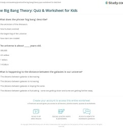 The Big Bang Theory: Quiz \u0026 Worksheet for Kids   Study.com [ 1121 x 1140 Pixel ]