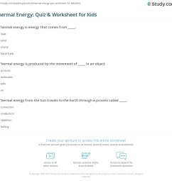 Thermal Energy: Quiz \u0026 Worksheet for Kids   Study.com [ 1121 x 1140 Pixel ]