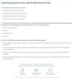 Understanding the Census: Quiz \u0026 Worksheet for Kids   Study.com [ 1309 x 1140 Pixel ]