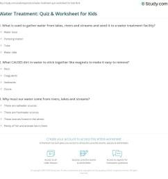 Water Treatment: Quiz \u0026 Worksheet for Kids   Study.com [ 1169 x 1140 Pixel ]