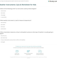 Weather Instruments: Quiz \u0026 Worksheet for Kids   Study.com [ 1149 x 1140 Pixel ]