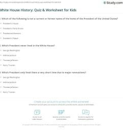 White House History: Quiz \u0026 Worksheet for Kids   Study.com [ 1169 x 1140 Pixel ]