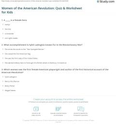 Women of the American Revolution: Quiz \u0026 Worksheet for Kids   Study.com [ 1236 x 1140 Pixel ]