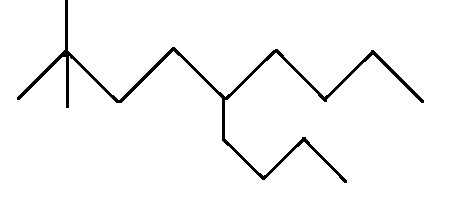 Write line-angle formulas for these alkanes and