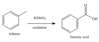 Write the equation for formation of 1 mole of benzoic acid