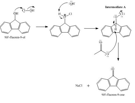 One possible reaction pathway for the oxidation of 9