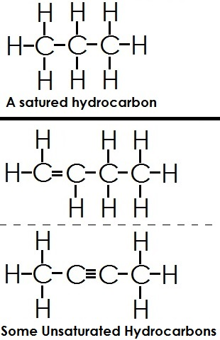 Name the different types of hydrocarbon with example