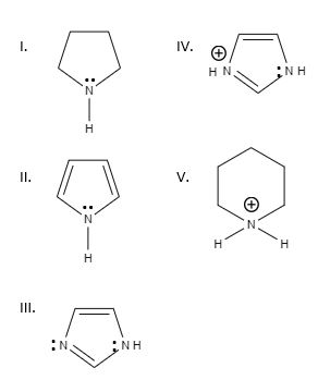 Which of the following heterocyclics has the lowest pKa