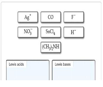 Classify each of the following as a Lewis acid or a Lewis