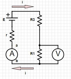 In the figure below, assume that E = 2.5 V, r = 140 ohm