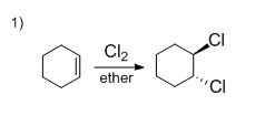 1) What is the product of the following reaction? 2) Which