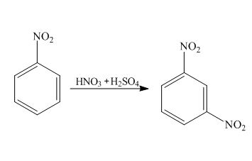 Draw the resonance hybrid structure for nitrobenzene and