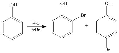 1) What would the products be for the bromination of