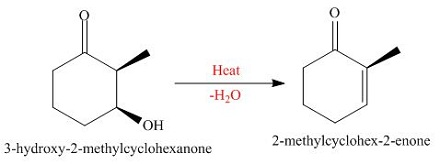 What unsaturated carbonyl compound is formed from the