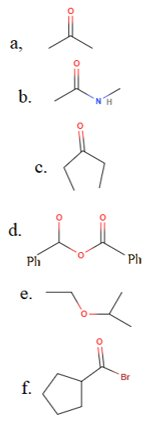 Identify the functional group in each of the following